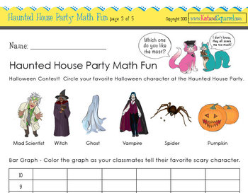 Math Fun - Halloween Haunted House Party Companion or Stand Alone Lesson