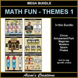 Math Fun Themes 1 Growing Bundle