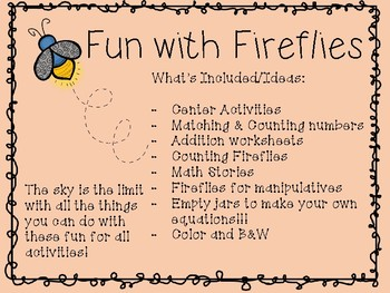Math Fun With Fireflies!