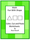 Shapes Cut and Paste Fine Motor Skills, Shapes and Color, Special Education