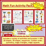 Math Fun Numbers 1 to 100 and shapes