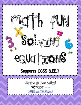 Math Fun with Solving Equations