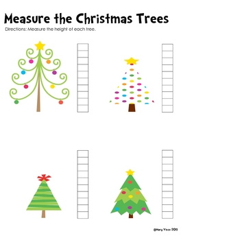 Math Fun with the Christmas Trees