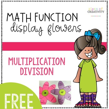 Math Function Display Flowers - FREE