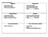 Math (Function) Sentence Starters