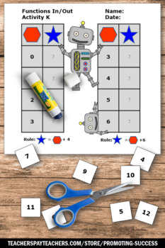 In and Out Tables, Addition and Subtraction Worksheets, Functions Review
