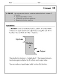 Math - Functions-Input/Output  T-Charts, Combining/Reversing Function Machines