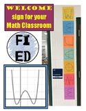 Math Functions Welcome Sign