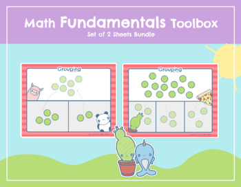 """Math Fundamentals Toolbox: Sheets """"Grouping Into 2s"""" and """"Grouping Into 3s"""""""
