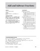 Math Fundamentals Unit: Add and Subtract Fractions, Grade 5