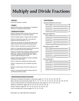Math Fundamentals Unit: Multiply and Divide Fractions, Grade 5