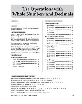 Math Fundamentals Unit: Use Operations with Whole Numbers and Decimals, Grade 5