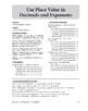 Math Fundamentals Unit: Use Place Value in Decimals and Exponents, Grade 5