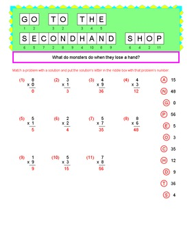 Math Galaxy 1 and 2 Digit Multiplication Riddles eBook
