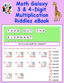 Math Galaxy 3 and 4 Digit Multiplication Riddles eBook
