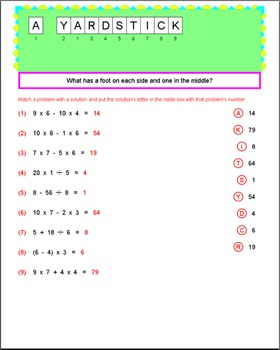 Math Galaxy Expanded Notation, Order of Operations & Patterns Riddles eBook