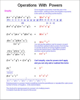 Math Galaxy Algebra Exponents, Scientific & Metric Notation Riddles eBook