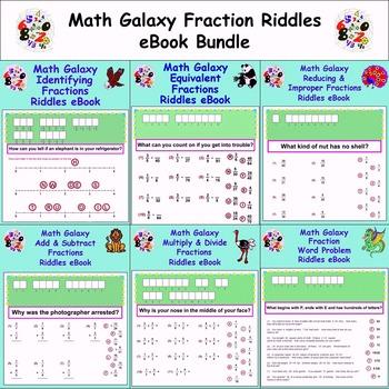 Math Galaxy Fraction Riddles eBook Bundle