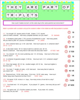 Math Galaxy Fraction Word Problems Riddles eBook