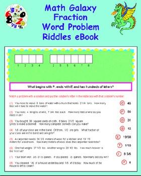 Math Galaxy Fraction Word Problems Riddles eBook