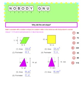 Math Galaxy Length & Area Riddles eBook