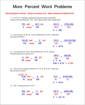 Math Galaxy Percents Riddles eBook