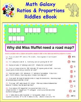 Math Galaxy Ratios & Proportions Riddles eBook