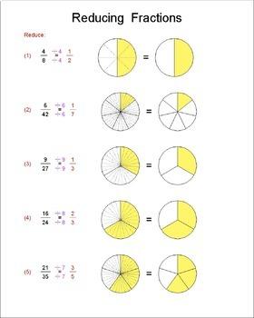 Math Galaxy Reducing & Improper Fractions Riddles eBook