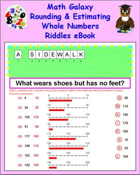 Math Galaxy Rounding & Estimating Whole Numbers Riddles eBook