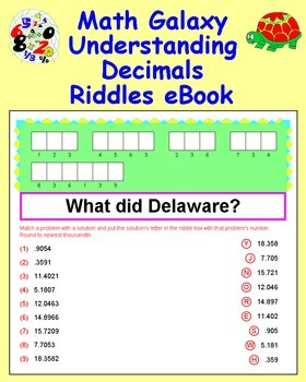 Math Galaxy Understanding Decimals Riddles eBook