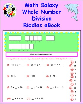 Math Galaxy Whole Number Division Riddles eBook