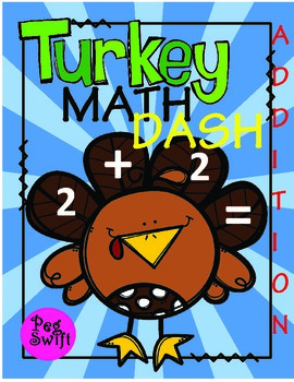 Math Game - Addition - Turkey Math Dash!