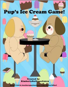 Back to School Math Game! Add Subtract Ice Cream Theme!