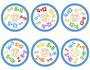 ADDITION GAME Look Around! Math Game for Addition Practice