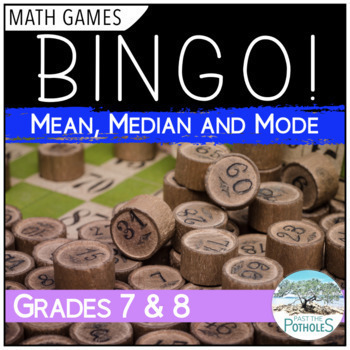 Math Game - BINGO - Mean, Median, and Mode - Data Management