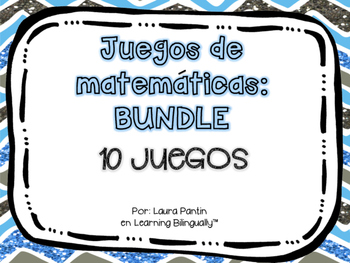 Math Game BUNDLE in Spanish