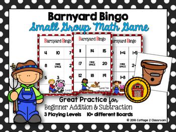 Math Game: Barnyard Bingo
