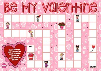Valentine's Day Themed Game Board