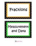 Common Core Strand Math Game Bin Labels