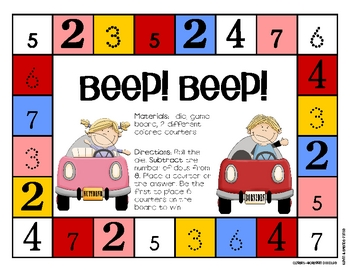 Game Board Math - Beep! BeeP!