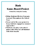 Math Game Board Project: Great End of Year/Test Prep Activity