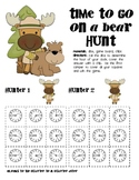 Math Game Board - Time To Go Camping, Hunting, on a Bear Hunt