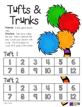 Game Board Math - Tufts and Trunks