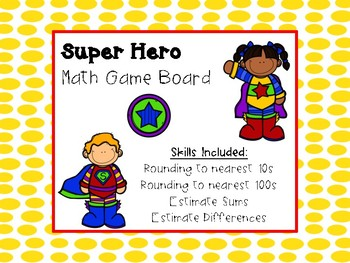 Math Game Board and Cards