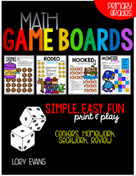 Math Game Boards