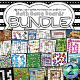 Math Game Boards Bundle (Addition, Subtraction, Multiplica