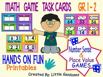 Place Value Fun For Grades One and Two: A Bundle of Game boards!