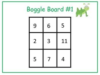 Math Center: Boggle Math/ 25 Boards plus recording sheets