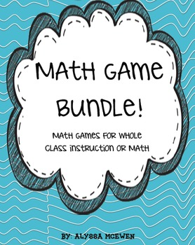 Math Game Bundle- 10 Exciting Math Games Practicing Common Core Standards