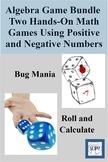 Algebra Game Bundle - Two Hands-On Math Games Using Positi